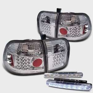 Eautolight 96 98 Honda Civic 4 Door LED Tail Lights + LED