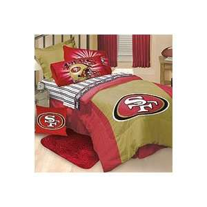 NFL San Francisco 49ers   4pc Football Comforter + Bed
