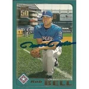 Rob Bell Signed Texas Rangers 2001 Topps Traded Card