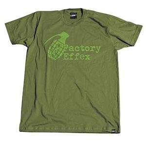 Factory Effex FX Times Up T Shirt   X Large/Olive Green