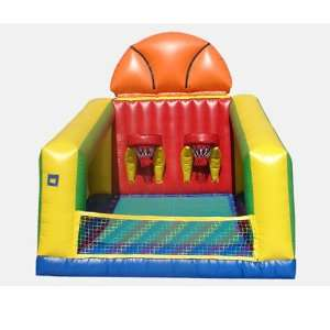 Basketball Challenge Bounce House (Commercial Grade) Toys & Games