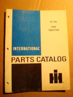 IH INTERNATIONAL HARVESTER 1586 TRACTOR PARTS CATALOG