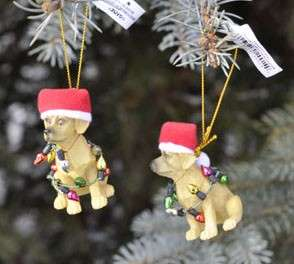Christmas Xmas Tree Ornament Yellow Lab Labrador Dog Q2