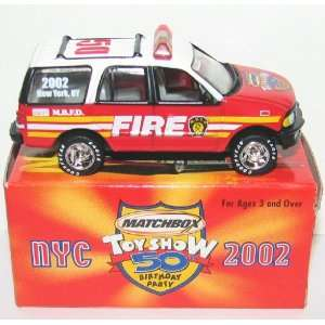 2002 New York Toy Fair Fire Truck FDNY Ford Expo Toys & Games