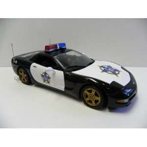 1/24 Scale Franklin Mint Corvette Police Car FOP Limited