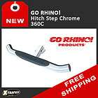 GO RHINO  TRAILER REAR HITCH STEP BUMPER GUARD CHROME
