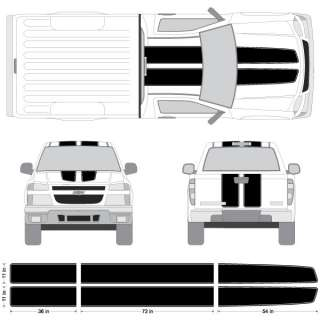 Canyon EZ Rally Racing Stripes with Outline, 3M Stripe Decals