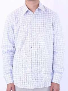 17L 34/35 Hugo Boss BLACK LABEL Enzo White Check Dress Shirt 02598/912