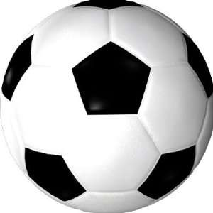Soccer Ball ( football ) Round Stickers Arts, Crafts