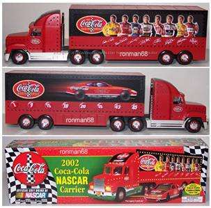 2002 COCA COLA COKE NASCAR CARRIER TRUCK WITH RACE CAR
