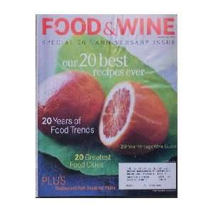 Food & Wine Magazine (Food & Wine, September 1998) Dana Cowin Books