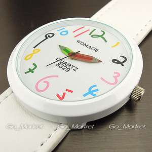 MODERN FASHION COLORFUL QUARTZ WHITE GIRL LADY WRIST WATCH WH019 B