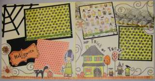 12X12 Premade Scrapbook Pages HALLOWEEN NIGHT KSH