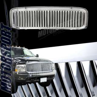 99 04 FORD F250 LARIAT SUPER DUTY CHROME VERTICAL GRILLE PICKUP TRUCK
