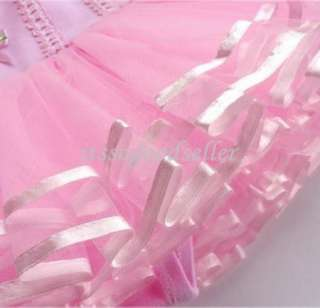 Leotard Ballet Tutu Costume Dance New Skirt Dress 2 8YRS Sleeve