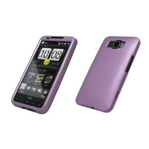 HTC HD2 Premium Rubberized Light Purple Snap on Case Cover