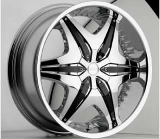 20 inch Akuza chrome black wheel rim 5x4.5 5x114.3 RWD