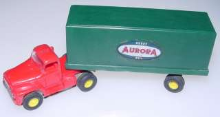 Aurora Vibrator Scarce Red Roof Semi Slot Car Truck Cab Green Logo Van