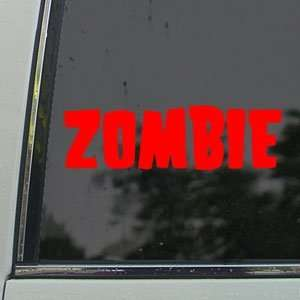Rob Zombie Red Decal Metal Band Car Truck Window Red