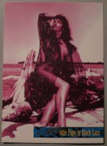1995 Bettie Page in Black Lace SpectraTone Card ST1