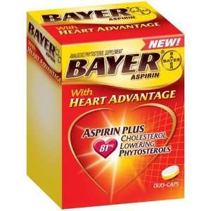 Bayer Aspirin Pain Reliever/ Fever Reducer with Heart Advantage, 60