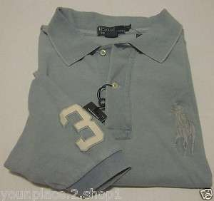 Polo Ralph Lauren Mens Big & Tall Big Pony Short Sleeve INDIGO Polo
