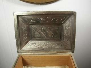 Art Deco Art Nouveau Cigarette Box Jewelry Casket
