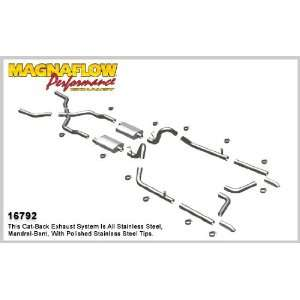Chevy Bel Air Crossmember Back System Performance Exhaust Hot Rod Kit