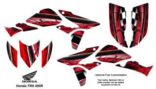 Honda TRX 450R ATV Graphics Decal Stickers Kit 2001R