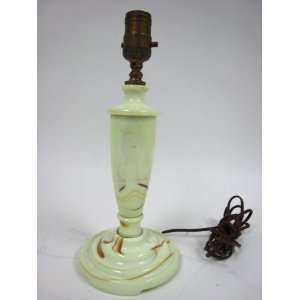 Art Deco Slag Glass Lamp