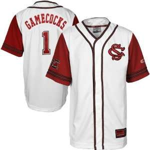 Carolina Gamecocks White Bullpen Baseball Jersey