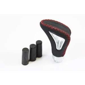 Universal Fit Jet Style Shift Knob   Black/Red Stitch