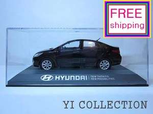 HYUNDAI VERNA ACCENT BLACK MINICAR DIECAST KOREA TOYS SCALE MODEL CARS