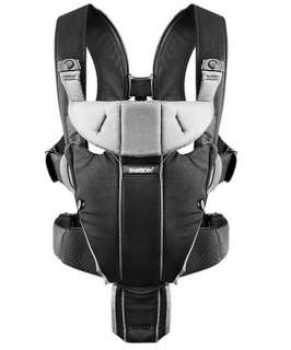 BabyBjorn Baby Carrier Miracle   Black/Silver, Cotton 874594002715