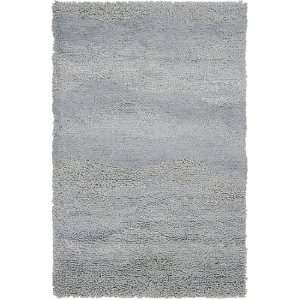 2 x 3 Berme Silvered Gray Wool Shag Area Throw Rug