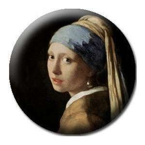 Johannes Vermeer Pinback Button 1.25 Pin / Badge Art