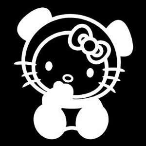 HELLO KITTY PANDA BEAR   6 WHITE   Vinyl Decal Vinyl Sticker   Car