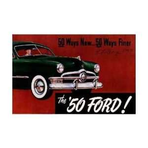 1950 FORD Features Sales Brochure Literature Book Automotive