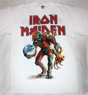 IRON MAIDEN EUROPEAN TOUR 2011 HEAVY METAL FINAL FRONTIER NEW WHITE T
