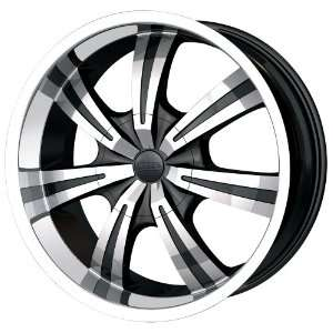 20x8.5 DIP Gunner (D88) (Black w/ Machined Face & Lip) Wheels/Rims