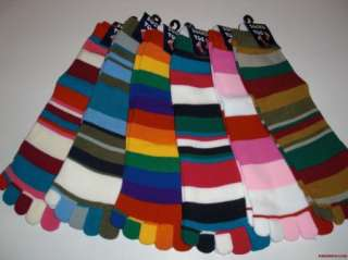 Pairs New STRIPE #2 TOE SOCK Wholesale MIX Lot Sz ALL