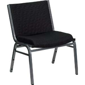 Extra Wide Black Fabric Stack Chair by Flash Furniture