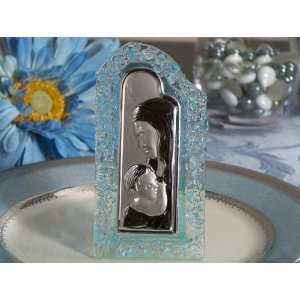 Wedding Favors Murano art deco Blue pebble curved arch design glass