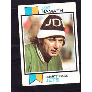 1973 Joe Namath Football Trading card New York Jets