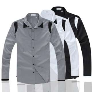 Mens Casual Slim Fit Dress Shirts 3 color 4 size C78