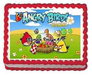 Angry Birds Edible Frosting Birthday Cake Icing Image Sheet Video Game