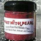 Rose Red Micro Metal flake paint powder coat custom NR