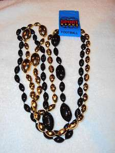 PITTSBURGH STEELERS NFL 2pk FOOTBALL BEADS NECKLACE B&G