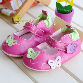 Pink Toddler Baby Girl shoes Mary Janes soft soled(E16E)10 15M