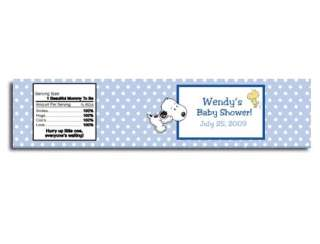 Baby Snoopy Blue Baby Jar / Candle Label Sticker Favor